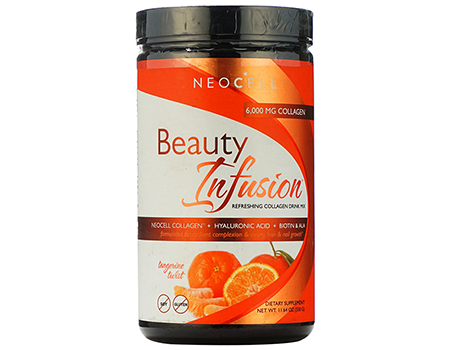 NeoCell Beauty Infusion Collagen Supplement Drink Mix Powder – 6,000mg Collagen Types 1 & 3 – Tangerine Twist Flavored– 11.64 Ounces